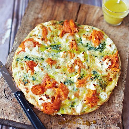 frittata met zoete aardappel & spinazie recept - food and friends